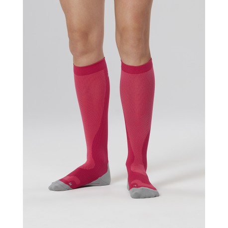 Chaussettes de Compression Perf Run Fushia